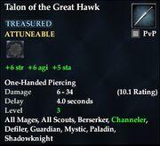 Talon of the Great Hawk