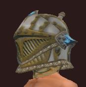 Vesspyr Warrior's Steel Barbute (Equipped)