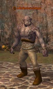 A Brokentusk shaman