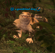 A greenblood dreg