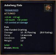 Adorberg Fists