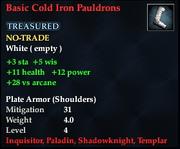 Basic Cold Iron Pauldrons