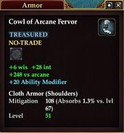 Cowl of Arcane Fervor