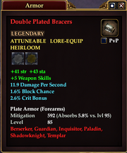 Double Plated Bracers