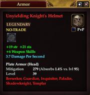 Unyielding Knight's Helmet