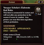 Vesspyr Scholar's Elaborate Red Robe