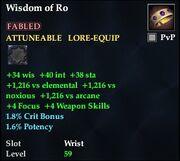 Wisdom of Ro