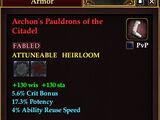 Archon's Pauldrons of the Citadel