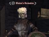 Blaize's Remains