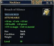 Broach of Silence