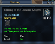 Earring of the Lucanic Knights
