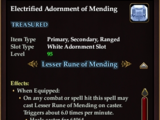 Electrified Adornment of Mending