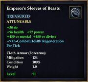 Emperor's Sleeves of Beasts