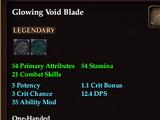 Glowing Void Blade