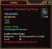 Initiate's Threaded Leg Wraps