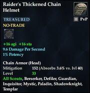 Raider's Thickened Chain Helmet