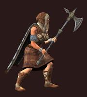 Royal Halberd of Ferocity (Equipped)
