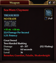 Sea-Worn Claymore