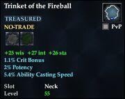 Trinket of the Fireball