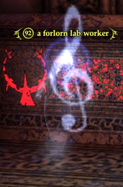 A forlorn lab worker