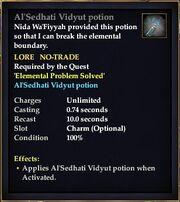 Al'Sedhati Vidyut potion