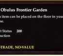 An Obulus Frontier Garden