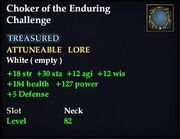 Choker of the Enduring Challenge
