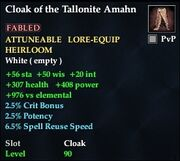 Cloak of the Tallonite Amahn