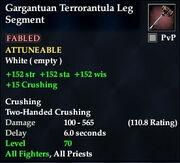 Gargantuan Terrorantula Leg Segment
