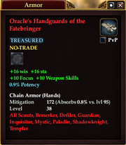 Oracle's Handguards of the Fatebringer