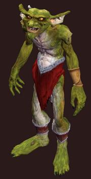 Petamorph Wand Runnyeye Goblin (Visible)