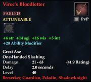 Viroc's Bloodletter