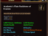 Academic's Plate Pauldrons of Evasion