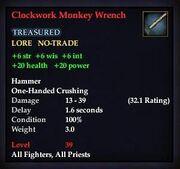 Clockwork Monkey Wrench