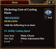 Flickering Gem of Casting Haste