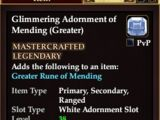 Glimmering Adornment of Mending (Greater)