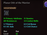 Planar Orb of the Warrior