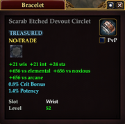 Scarab Etched Devout Circlet