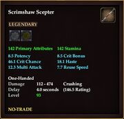 Scrimshaw Scepter