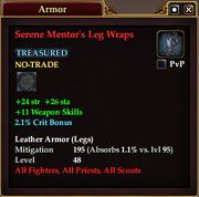 Serene Mentor's Leg Wraps