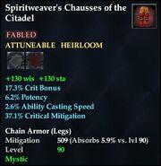 Spiritweaver's Chausses of the Citadel