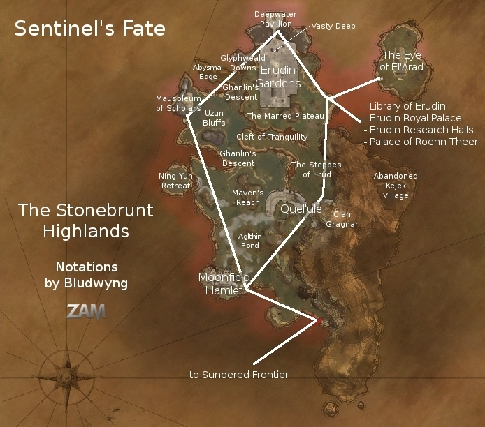 The Stonebrunt Highlands Map