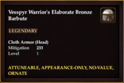 Vesspyr Warrior's Elaborate Bronze Barbute