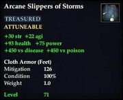 Arcane Slippers of Storms