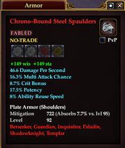 Chrono-Bound Steel Spaulders