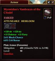 Myrmidon's Vambraces of the Citadel