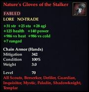 Nature's Gloves of the Stalker