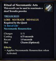 Ritual of Necromantic Arts