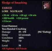 Sledge of Smashing