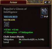 Beguiler's Gloves of Intelligence